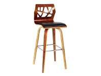 LivingStyles Haden PU Leather and Wood Bar Chairs