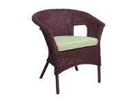 LivingStyles Skjern Fuschia Rattan Tub Chair with Cushion