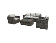 LivingStyles Sanford 4 Piece Wicker Outdoor Sofa Set