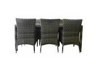 Sanford 9 Piece Wicker Outdoor Dining Table Set, 210cm