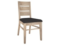 LivingStyles Laccadive Acacia Timber Dining Chair with PU Seat