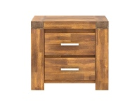 LivingStyles Bowden Acacia Timber Bedside Table