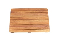 LivingStyles Archie Solid Teak Timber Bath Mat
