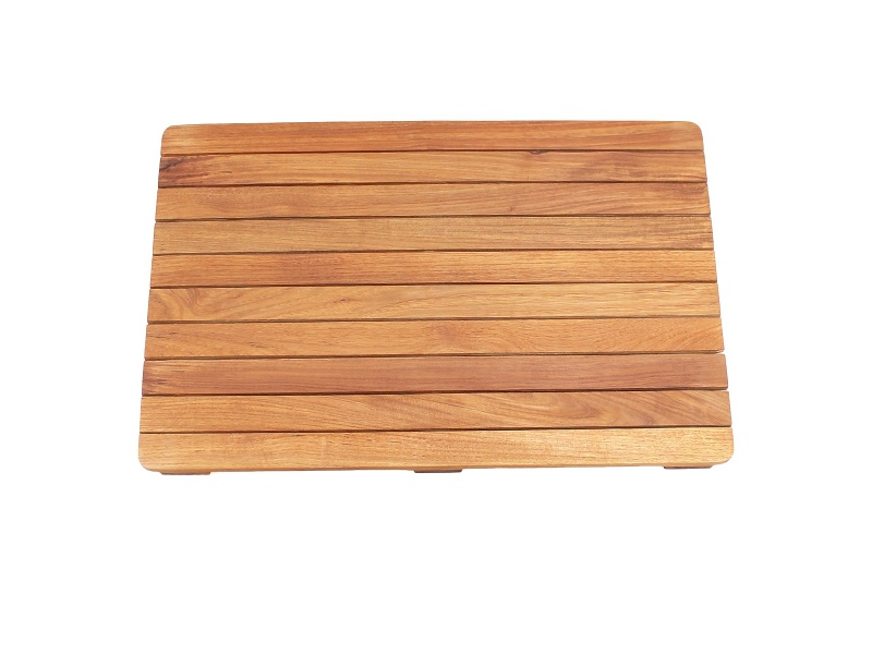 Archie Solid Teak Timber Bath Mat