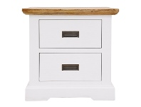 LivingStyles Largo Acacia Timber Bedside Table