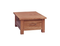 LivingStyles Cooper Mountain Ash Timber Lamp Table with Drawer