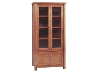 LivingStyles Cooper Mountain Ash Timber Display Cabinet