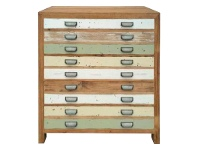 LivingStyles Epsom Recycled Elm Timber 5 Drawer Tallboy