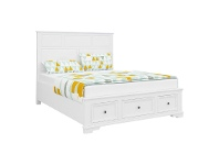 LivingStyles Vienna Wooden Bed with Storage, Queen