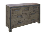 LivingStyles Pittsfield Acacia Timber 7 Drawer Dresser