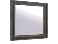 LivingStyles Pittsfield Solid Acacia Timber Frame Dressing Mirror