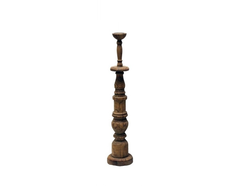 Yvette Recycled Timber Candle Holder, 90cm