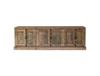 LivingStyles Austin Recycled Pine Timber 6 Door 240cm Buffet Table