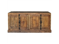 LivingStyles Austin Recycled Pine Timber 4 Door 160cm Buffet Table