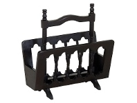 LivingStyles Miller Solid Mahogany Magazine Rack, Chocolate