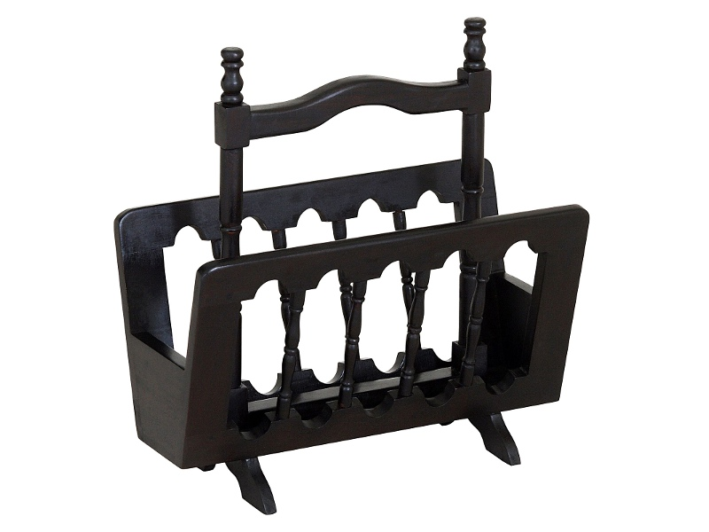 Miller Solid Mahogany Magazine Rack, Chocolate