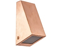 LivingStyles Wedge IP44 Exterior Wall Light, Copper