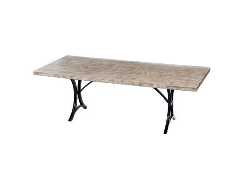 St. Barts Concrete Outdoor Dining Table, Minerva Base, 220cm