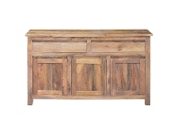 LivingStyles Merle Mango Wood 3 Door 2 Dawer Buffet Table, 150cm