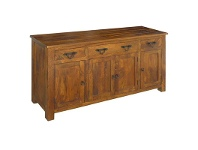 LivingStyles Harwinton Solid Mango Wood Timber Buffet Table