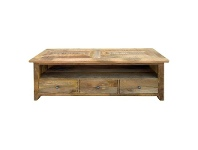 LivingStyles Hexagon Solid Timber Parquetry Top TV Unit