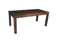 LivingStyles Breeze Solid Mango Wood Timber 180cm Dining Table - Light Honey