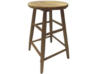 LivingStyles Fred Solid Timber Scoop Seat Counter Stool, Naturla