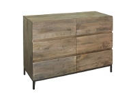 Saddington Mango Wood 6 Drawer Dresser