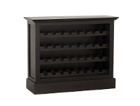LivingStyles Boku Mahogany Timber Wine Rack, Small, Chocolate