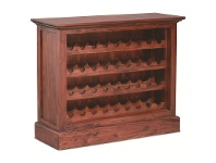 LivingStyles Boku Mahogany Timber Wine Rack, Small, Mahogany