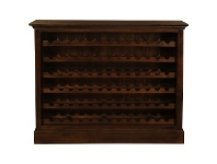 Boku Mahogany Timber Wine Rack, Large, Mahogany