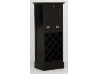 Solid Mahogany Fold Out Cabinet Wine Rack, Chocolate