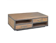 LivingStyles Solon Mango Wood Coffee Table, 130cm