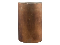 LivingStyles Ontario Etched Mesh Glass Candle Holder, Medium, Rust