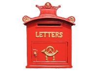 LivingStyles Buckingham Cast Iron Traditional English Letter Box