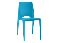 LivingStyles Velasco Commercial Grade Outdoor Dinig Chair, Blue