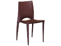 LivingStyles Velasco Commercial Grade Outdoor Dining Chair, Chocolate
