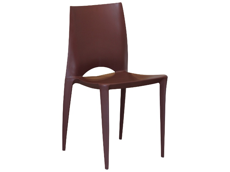 Velasco Commercial Grade Outdoor Dining Chair, Chocolate