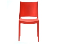 LivingStyles Velasco Commercial Grade Outdoor Dining Chair, Red