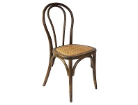LivingStyles Replica Michael Thonet No.18 Chair with Rattan Seat, Walnut