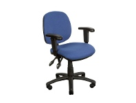 Task Fabric Adjustable Office Armchair, Blue