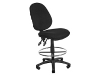 LivingStyles Typist Fabric High Back Drafting Chair