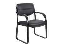 LivingStyles Client Leather Visitor Chair