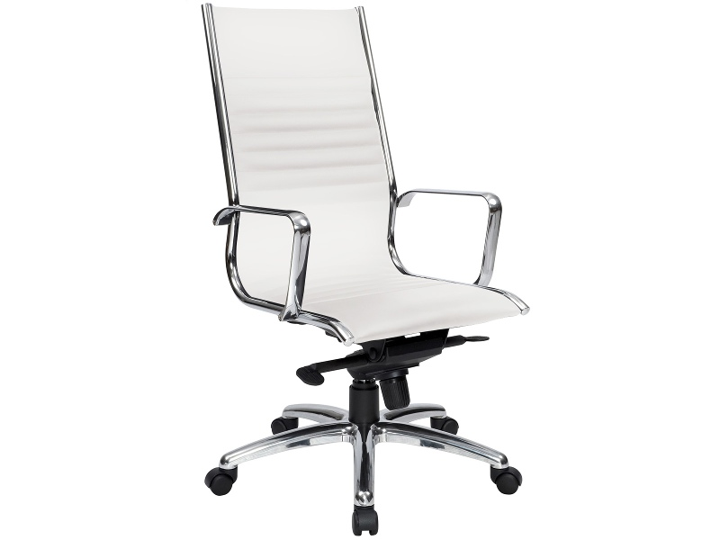 Cogra PU Leather High Back Executive Chair, White