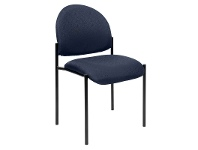 LivingStyles Felman Stackable Fabirc Visitor Chair, Blue