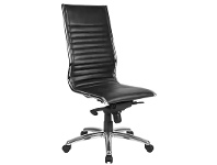 LivingStyles Nordic PU Leather High Back Executive Chair, Black