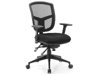 LivingStyles Miami Fabric Office Chair with Arms