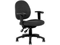 LivingStyles Lincoln Fabric Office Chair with Arms