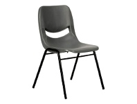 LivingStyles Hoxton Stackable Side Chair, Grey