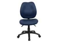 LivingStyles Sabina Fabric Office Chair, Blue